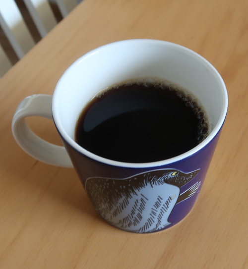liikaa kofeiinia kahvimukista muumi